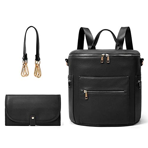 Generic Multifunction Mother-Baby Handbag Backpack Diaper Bags Fashion Travel Waterproof Black