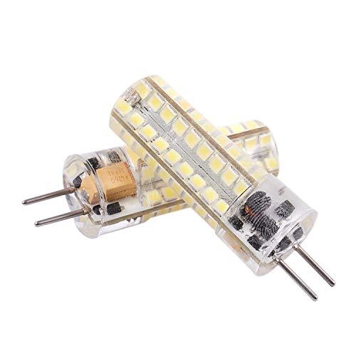 tellaLuna 2 bombillas LED GY6.35 de 6,5 W 72 2835 SMD LED 320 lm 50 W equivalentes a lámparas halógenas regulable blanco puro 6000 K 360 grados ángulo de haz de silicona bombilla de maíz