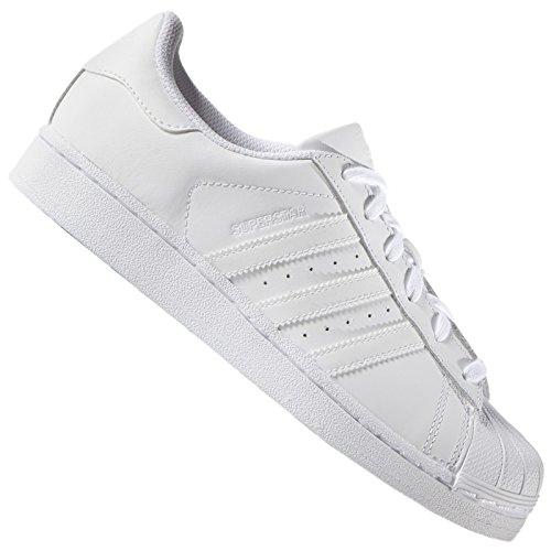 adidas Originals Superstar SST Damen Herren Leder Sneaker Schuhe Turnschuhe, Schuhgröße:38 EU, Farbe:S85139 - Weiß