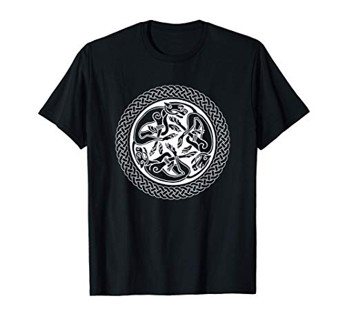 Irish Celtic Knot Ring Art with Hounds T-Shirt