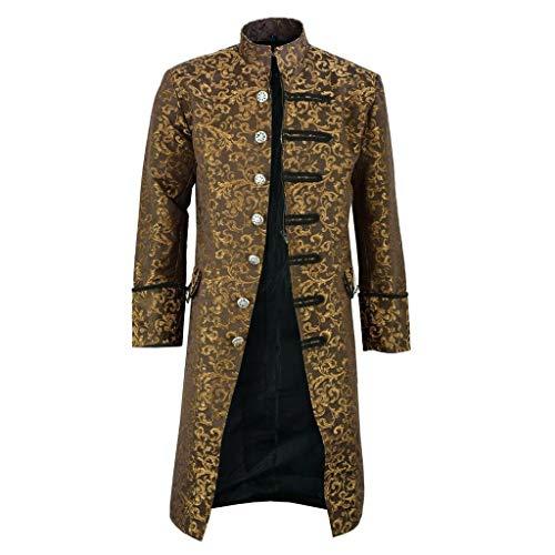 KANGMOON Herren Winter Warme Vintage Frack Jacke Mantel Outwear Jacke Winterjacke Trenchcoat Strickjacke Bikerjacke Windjacke Knöpfe Mantel Jacken Herren