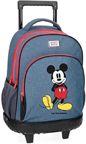 Mochila infantil con ruedas Mickey Blue de Disney