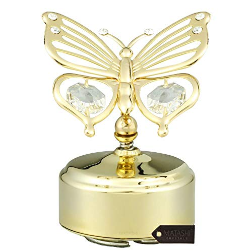 Image of Elegant Single Butterfly Music Box Figurine