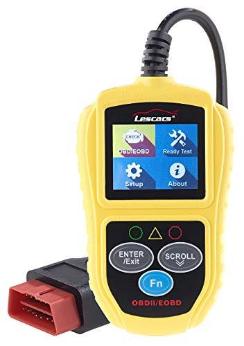Lescars Motordiagnosegerät: Universelles OBD2-Diagnosegerät, 5,1-cm-Farb-Display, bis zu 300 Codes (Auslesegerät)