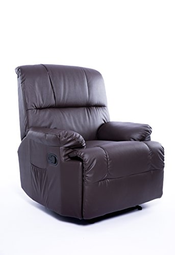 Imperial Confort Sillón Relax con Reclinación Manual Y Masajes, Marrón, Talla Unica