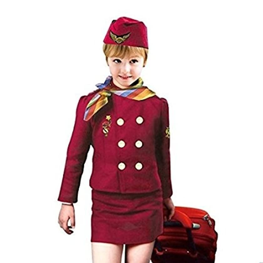 Baby And Blossoms Air Hostess Community Helper Fancy Dress Costume For Kids(4-6Yrs.)