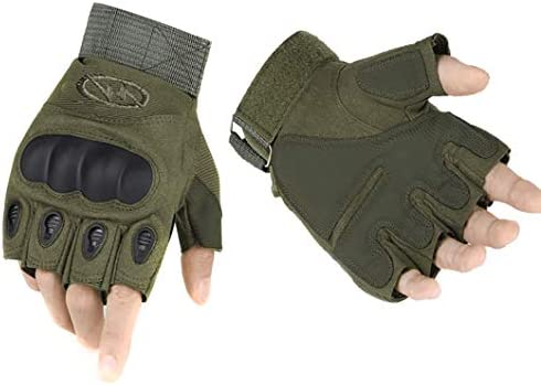ThreeH Tactical Hard Knuckle Gloves Half Finger Gloves for Riding Airsoft Hunting Paintball product image