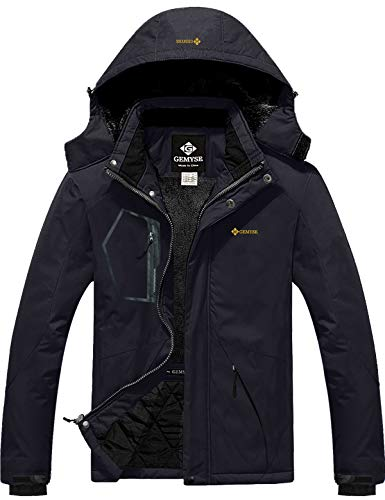 Men's Waterproof Ski Jacket Warm Winter Snow Coat Hooded Raincoat