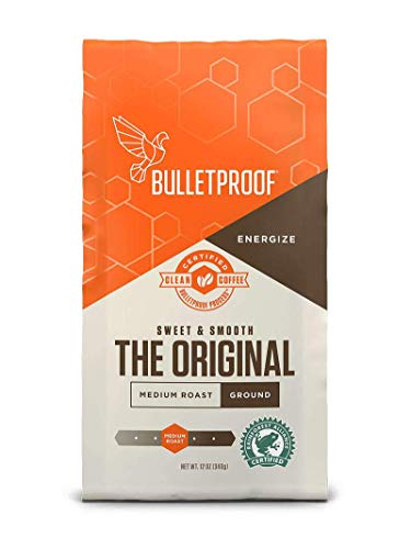 Bulletproof The Original Ground Coffee, Medium Roast, Keto Friendly, Certified Clean Coffee, Rainforest Alliance, Ground, 12 Ounces