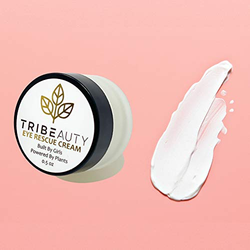 TRIBEAUTY Under Eye Cream Anti Aging | Plant Based Eye Cream for Dark Circles and Puffiness | Reduce Under Eye Bags, Wrinkles & Fine Lines | w/Shea Butter, Cocoa Butter, Aloe Vera + Arnica Cream