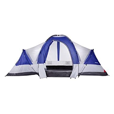 North Gear Camping Deluxe 8 Person 2 Room Family Tent 18' x 10'