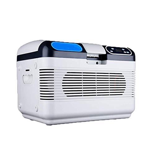 LKOER Refrigerador de Coches, Propósito General 12V / 24V / 220V Congelador portátil Refrigerador de refrigeradores, refrigeración de Doble núcleo de 12 litros Compac jinyang