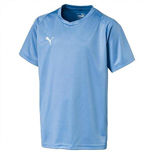 PUMA League Core Jr T-Shirt pour Enfant, Fille, Tricot, 70354218, Argent/Bleu, 164