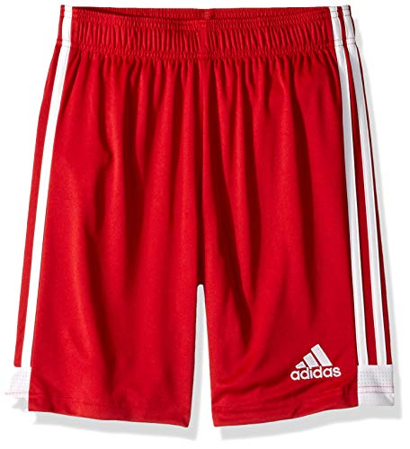 adidas Tastigo19 Youth Soccer Shorts, Power Red/White, Small