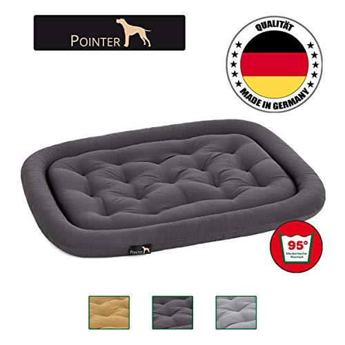 Pointer orthopädisches Hundekissen, ovale Hundematratze Kochfest und Kratzfest, Premium Qualität, Grau M