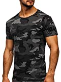 Mens Camouflage Short Sleeve Athletic Shirts Tees Fitness Military Crewneck Vintage Camo T-Shirts