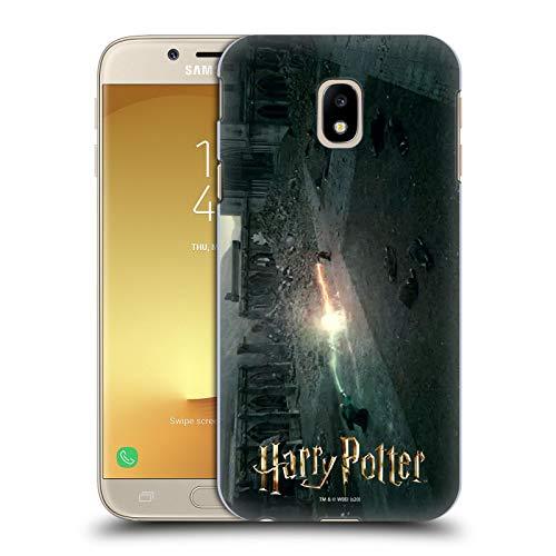 Head Case Designs Licenza Ufficiale Harry Potter Sconfiggere Voldemort Deathly Hallows XXX Cover Dura per Parte Posteriore Compatibile con Samsung Galaxy J3 (2017)
