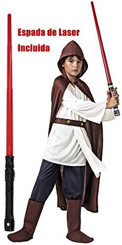 Gojoy shop- Disfraz de Luke Skywalker de Star Wars para Niño Carnaval (Contiene Túnica, Camiseta, Cinturón y Botas, 4 Tallas Diferentes) (3-4 años)