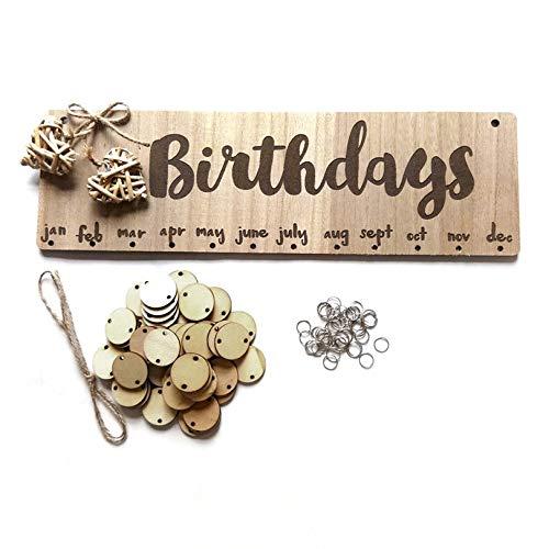 CLOVERLY Tableau d'anniversaire en Bois Lettres minuscules Suspendus