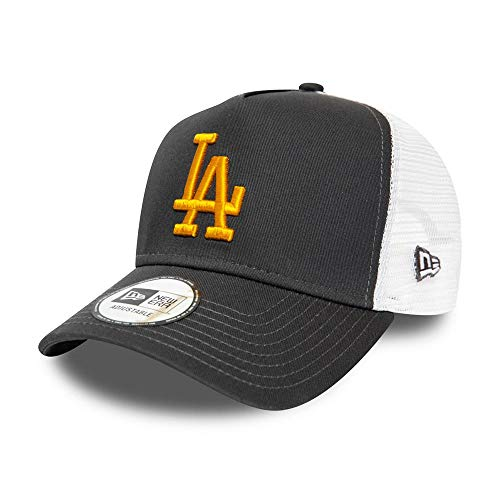 New Era - MLB Los Angeles Dodgers Essential A-Frame Trucker Snapback Cap - Grau Größe One Size, Farbe Grau