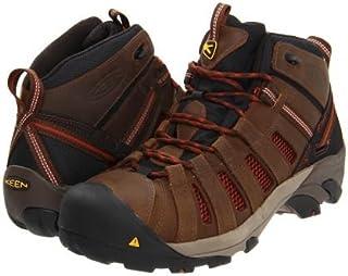 Keen Utility(キーン) メンズ 男性用 シューズ 靴 ブーツ 安全靴 ワーカーブーツ Flint Mid - Slate Black/Burnt Henna [並行輸入品]