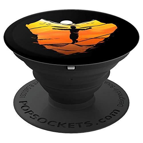 Slackline SunsetSlacken Slacklining Seiltanzen Geschenk - PopSockets Ausziehbarer Sockel und Griff für Smartphones und Tablets