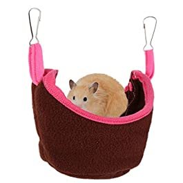 DC CLOUD Bird Cage Rat Hammocks Squirrel Sleeping Bag Hamster Hammock Guinea Pig House Rabbit Beds For Indoors Rat Hammocks For Cage Pet Hammock Small Pet Bed