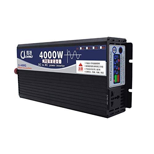 QXYA High-Power Pure Sine Wave Inverter 12V 24V 48V 60V To 220V 600W,1000W,200W,3000W,4000W,5000W,6000W Home Transformer Car Power Inverter con Dual Digital Display,