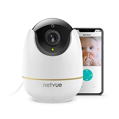 NETVUE 720P Wireless Camera IP, Compatible avec Alexa Echo Show, de 360 ¡ã WiFi Cam¨¦ra de securite avec Pan/Tilt/Zoom, Deux Voies Audio et Vision de Nuit, Baby/Fumee/Pet/Nanny Monitor