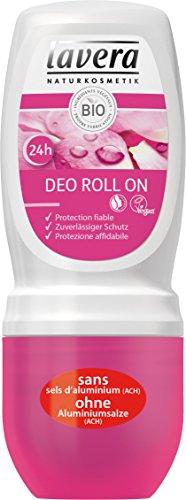 lavera desodorante Roll On Rosa Mosqueta bio - vegano - cosméticos naturales 100% certificados - cuidado de la piel -1 unidad de 50 ml