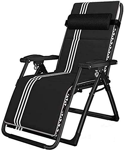 Sun Lounger Garden Chairs Folding Chair Siesta Lounge Chair Office Portable Beach Chair Zero Gravity Reclining Outdoor Garden Sun Lounger Chair with Adjustable Padded Headrests and Seat cushion Germ