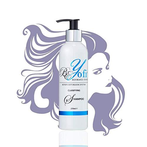 BEYofi - Champú aclarador de pelo creado por Bernard Evans | 250 ml de extensión de cabello champú para eliminar la acumulación de producto | Uso en preparación para extensión de ajuste