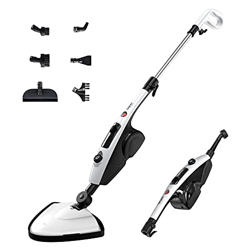 AIPER SMART Steam Mop 11 in 1 Multifunctional Detachable Handheld Steam Cleaner for Hardwood, Tiles, Grout, Carpet , Cleaning Machine Steamer for Home, Kitchen, Garment with 2pcs Mop Pads