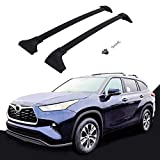 etesan 2 Pieces Cross Bars Fit for 2020 2021 Toyota Highlander XLE & Limited & Platinum Black Cargo Baggage Luggage Roof Rack Crossbars (Models with Factory Roof Rails)