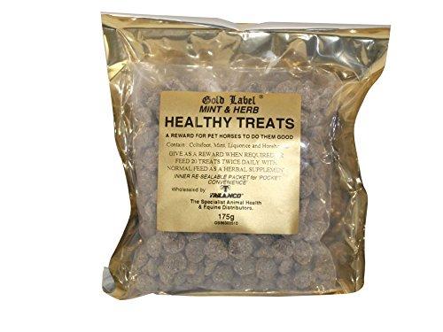 Herbal Healthy Treats, Horse Treats, Gold Label, Horse Supplement, Mint/Herb, 12 x 175 GM