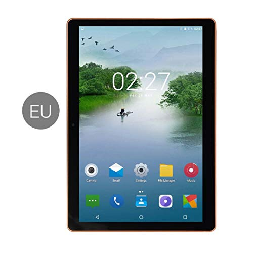 Garciasia Pantalla IPS de 11 pulgadas Android 8.0 Tablet PC de diez núcleos 1 + 8G Ranuras para tarjeta SIM dual Llamada telefónica 3G con GPS FM (Color: negro)