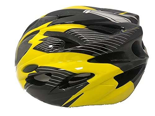 SHINE® Unisex Cycling Helmet, Adjustable Lightweight Bicycle Bike Mountain Road for Men and Women Removable Lid on front MEDIUM YELLOW