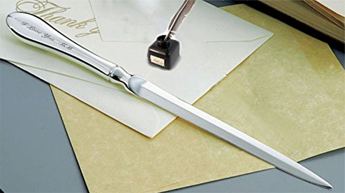 Personalized Elegant Silver Letter Opener Custom Engraved Free – Ships from USA