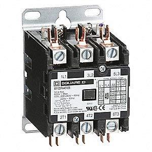 Square D 8910DPA43V09 Contactor, Definite Purpose, 600VAC, 40A, 3 Pole, Non Reversing, 208/240VAC,