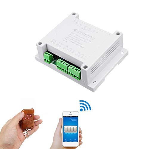 Módulo de relé electrónico Con Shell y 433M interruptor remoto controlador AC 220V 10A Control de accesorios del coche punto de relevo remota 4 Módulo WiFi Canal