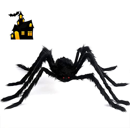 Huifengjie Arañas Halloween, Arañas De Terror 150 cm,Araña Gigante de Felpa Negra...