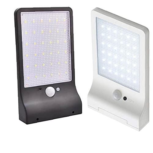 Tuimiyisou Blanca Detección De Movimiento Impermeable Luz del Día Pir De La Lámpara De Pared del Sensor De Luz Solar Aire Libre 36led Inicio Calle Patio