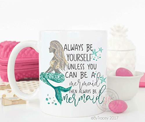 Be A Mermaid Mermaid Mermaid Mug Mermaid Life Mugs With Sayings Funny Coffee Mug,15oz