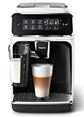 Philips 3200 serie EP3243/50 Koffiemachine, 5 koffiespecialiteiten (LatteGo Milk System) Wit/Piano Lak-Zwart*