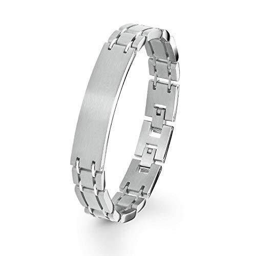 s.Oliver Herren ID-Armband 21,5cm gravierbar längenverstellbar Edelstahl