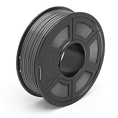 AnKun Pla Filament 1.75mm,Grey PLA 3D Printing Filament for 3D printer and 3D Pen, Dimensional Accuracy +/- 0.02mm, 1kg 1 Spool