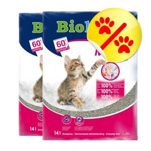 2 x Biokats Micro Fresh 14 l Katzenstreu mit Sommerduft mit feiner Körnung