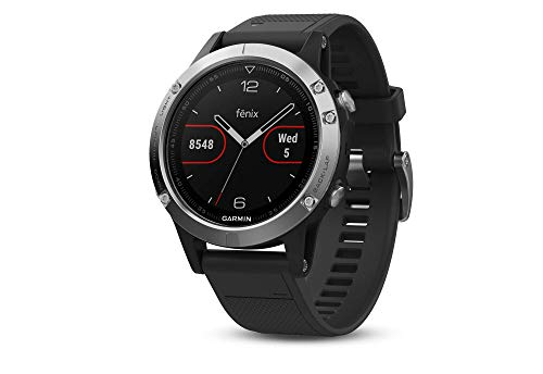 Garmin Fenix 5 Multisport GPS Watch with Outdoor Navigation and Wrist-Based Heart Rate, Silver (Renewed)