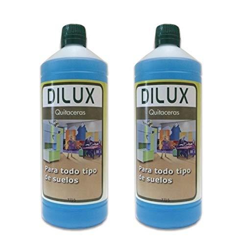 Dilux - PACK QUITACERAS para suelos encerados 2x1 L