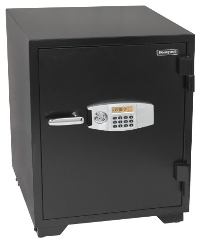 Honeywell Safes & Door Locks - 2118 Steel Fireproof Security Safe with Dual Digital Lock and Key Protection, 3.44-Cubic Feet, Black